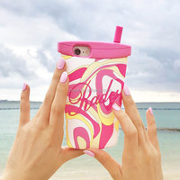For iPhone 8 Carton Fashion Cup Design Soft Silicone Phone Back Cover Case For Sexy Girl Case