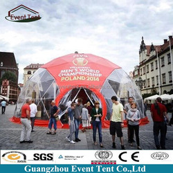 Low price ETFE fire retardant geodesic dome house for sports event