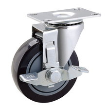 90 KG Load Capacity pu casters and wheels