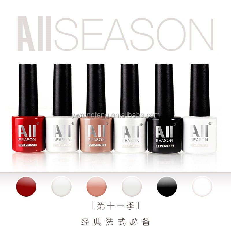 2016 Hot Sale All Season Brand 7ml Private Label Cosmetics Color Nail Painting Weekly Nail Polish