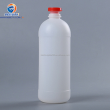 LOGO printed food grade white round PE 650ml plastic edible oil bottle in zhejiang