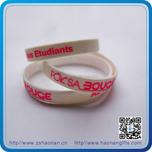 brand new exquisite fashion silicone wristband for corporate anniversary gifts