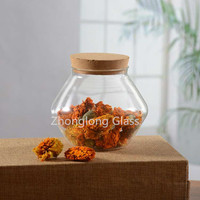 New Style High Quality Borosilicate Glass Jar With Bamboo Lid