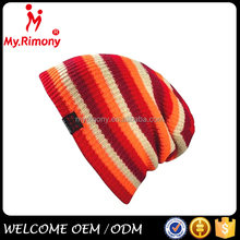 100 acrylic muti-color unisex custom knitted beanie hat