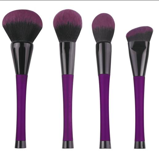 New arrival makeup powder brush for face with gold ferrule makeup brush factory mermaid makeup brush set