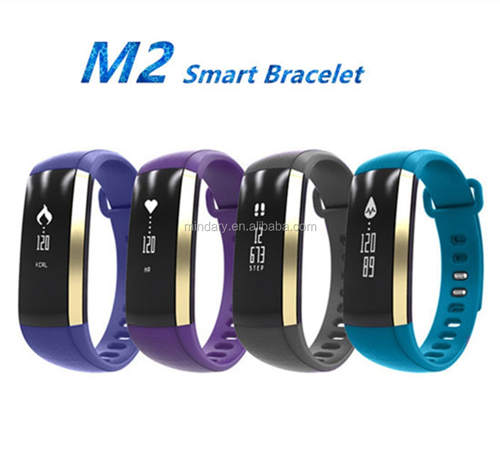 Trending products blood pressure smart bracelet m2 bluetooth fitness tracker