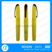 PB-097 Hot selling highlighter pen with sticky note, promotional fluorescent pen