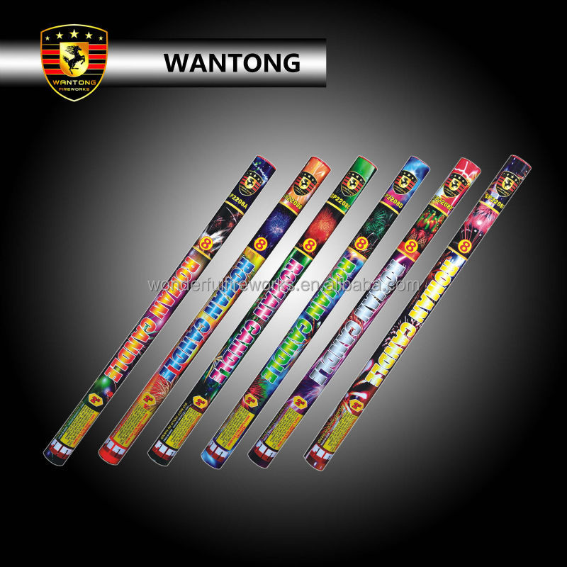 "Liuyang Wantong 2"" 8 shots Roman candle fireworks display"