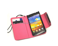 Lychee Credit Card Pockets For Samsung Galaxy S2 i9100 I777 Case Wallet Cover Factory Price