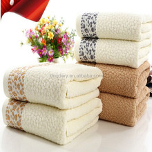 2016 New Style Sika Deer Applique Embroidery Bath Towel With Multi Colour