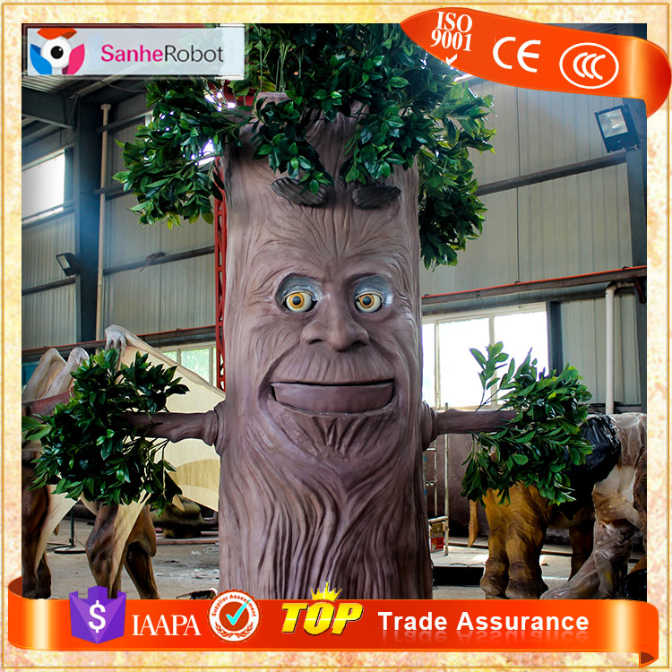 SH-RC027 Customized fiberglass lifelike talking tree for sale