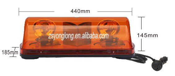 Super quality new design warning mini amber led light bar, halogen rotating light bar, YL-169B