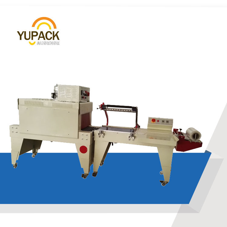 Semi-automatic L bar shrink bands packaging equipment with tunnel