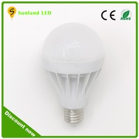 ce rohs high efficiency 5w 7w 9w 12w led light rechargeable bulb e27 led intelligent lighting with 3 years warranty