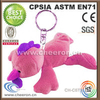 Latest styles stuffed plush toy chicken animal keychain toy