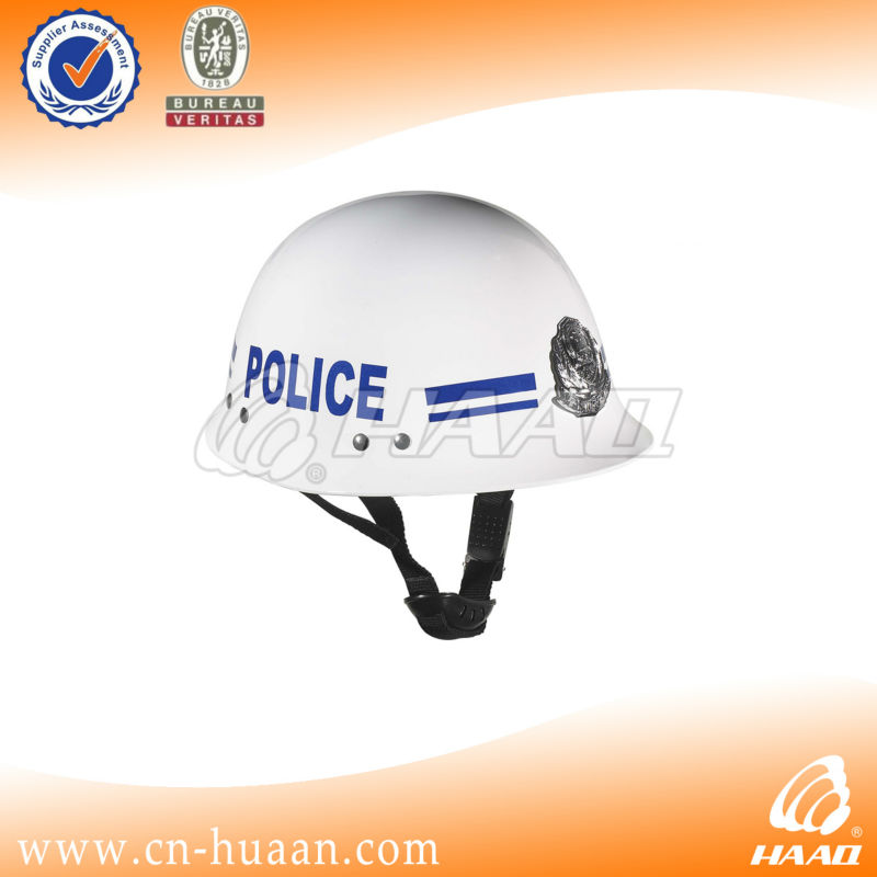white ABS engineering plastics police service safety helmet