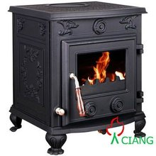 Cast iron wood burning solid fuel stoves