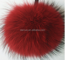 New knitting woolen yarn hats raccoon fur pom pom hats knitted winter cap with raccoon top ball