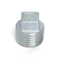 STAINLESS STEEL 304 SQUARE HEAD PLUGS WITH MALE THREAD