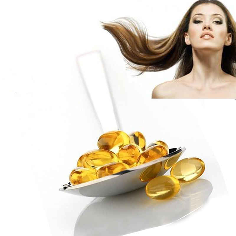 Make the hair thicker halal vitamin e softgel