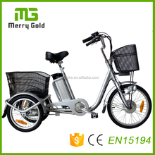 Basket family small trikes tricycle 3 wheel electric cheap cargo bikes China