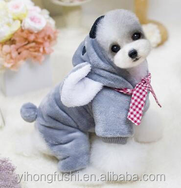 High Quality New Winter Koala Cotton-Padded Clothes Pet Dog Cute Clothes Grey Fleece Warm Hoodies