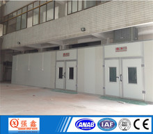 customize paint booth with water curtain