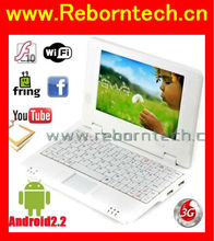 7 inch Cheap used laptop computer android 2.2 VIA WM8650