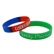 Promotion ink filled debossed custom silicone wristband
