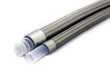 Industrial PTFE Stainless Steel Hydraulic Hose for air compressor discharge, hot oils and fluids, or hot and greasy
