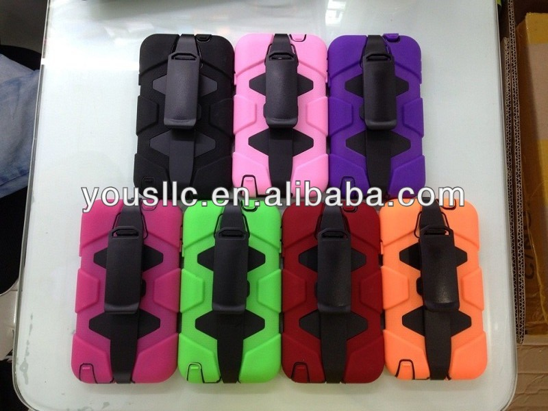 Heavy Duty Shock Proof Tough moblie phone Case for Samsung galaxy note 3 n9000 + Belt Clip Holster