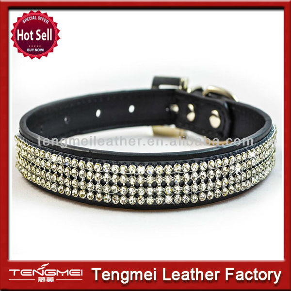 New style good quality rhinestone dog collars for big dogs