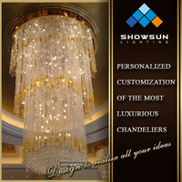 Guzhen decoration crystal ceiling light wedding table centerpieces