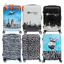 New Trolley Suitcase Luggage Travel House Luggage Bags Kids Pattern Luggage Draw-bar Box