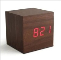Free shipping high quality wooden alarm clock various design desk&table clock fashion