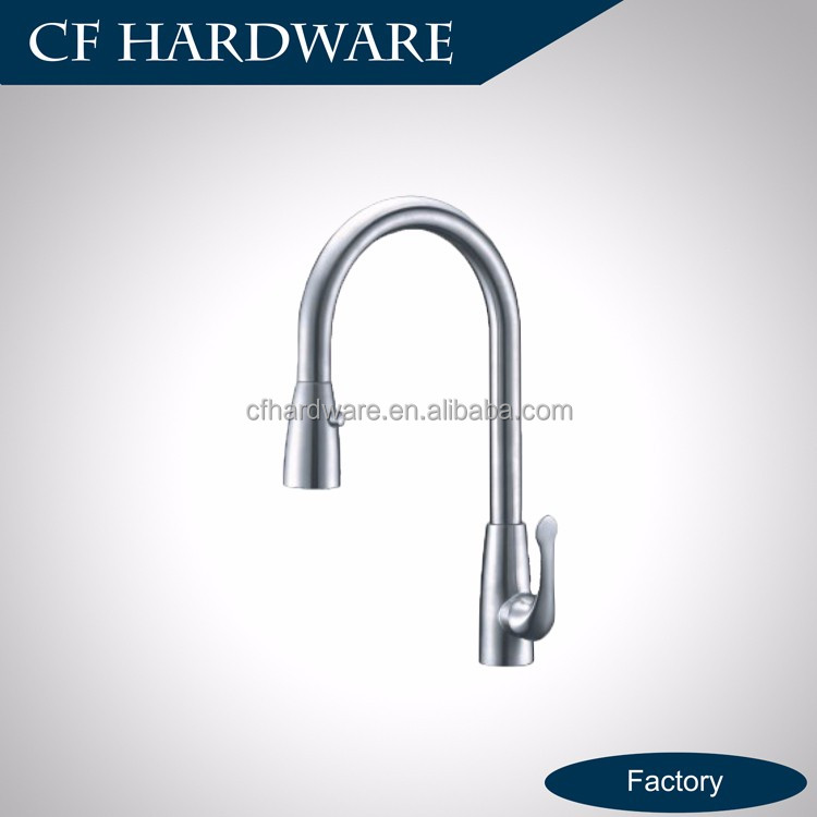 Side sliding handle pull out spray sink tap