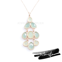 Best selling elegant meaningful pendant necklace/crystal pendant necklace/stone pendant necklace