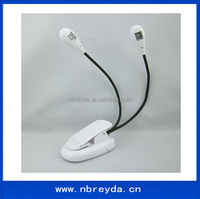 Double Head Flexible 2 Led Book Light Led Reading Lamp Led Lighting