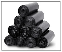 Large Black poly bag on roll Garbage Bags on roll