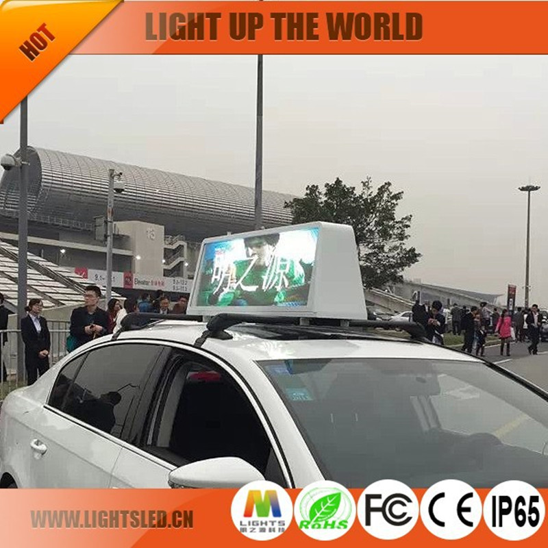 P5 outdoor taxi top led display outdoor advertising video <strong>screen</strong> for cars