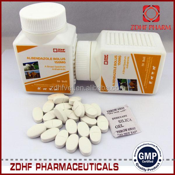 veterinary manufactuer Albendazole tablet 2500mg for cattle,sheep