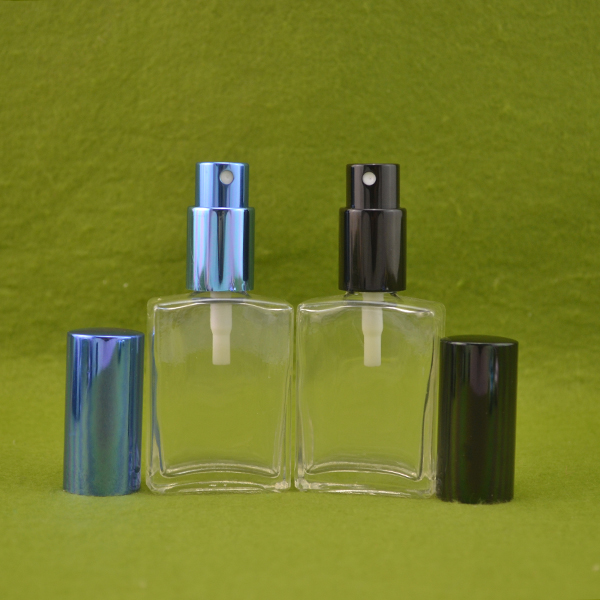 15ml 30ml 50ml glass perfume rectangle bottle with mist spray cap