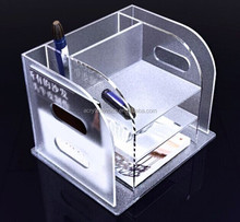 Desktop acrylic lucite file holder tray,brochure display case