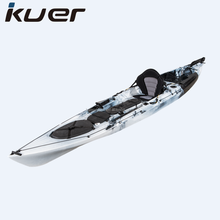 KUER Dace pro angler 14ft Hot sell plastic ocean canoe which can install fish finder and cooler box