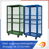 folded strong steel storage cages