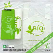 biodegradable plastic shopping bags t-shirt bags in roll