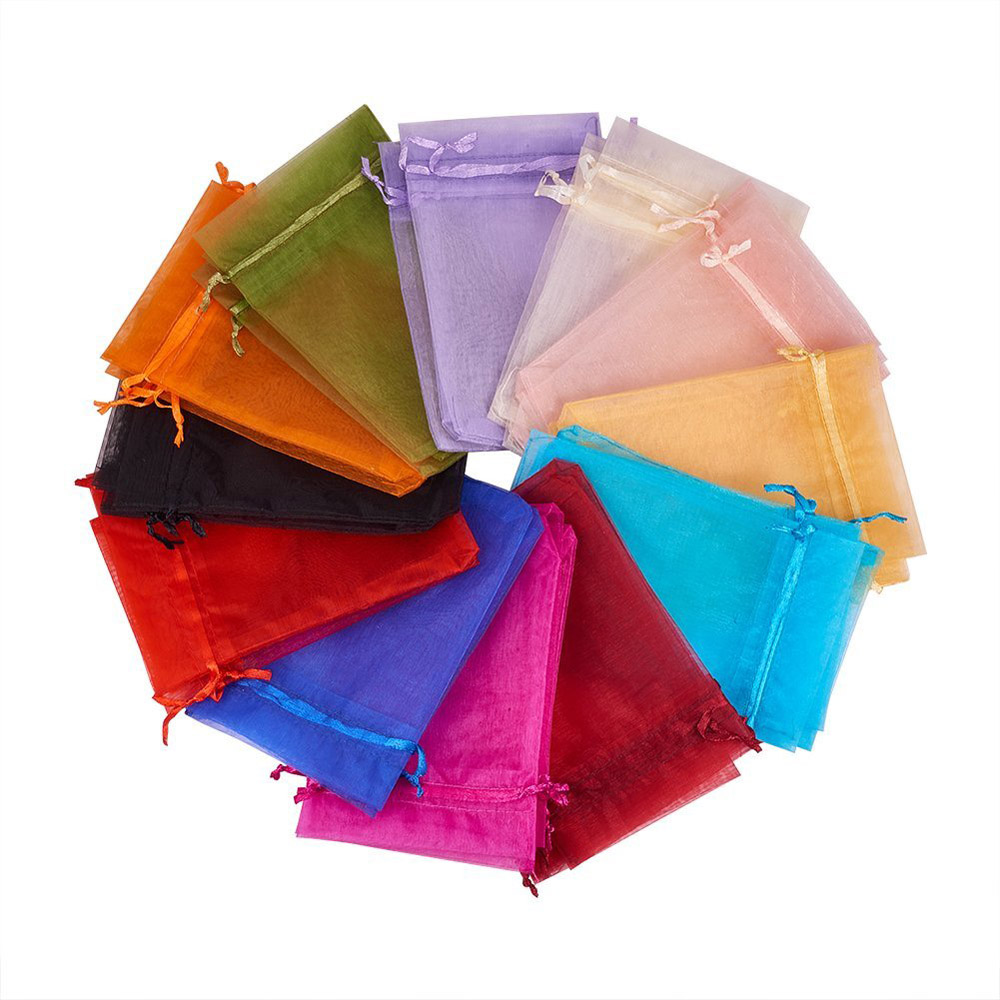 Fashion Custome Organza Drawstring Bags Jewelry Party Wedding Favor Gift Bags