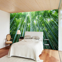 Bedroom TV background wallpaper 3d wall price bamboo mural 3d pvc customize