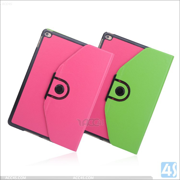 Factory OEM/ODM Cheap Price Color Matching Detachable Rotating Leather Case for iPad Air 2