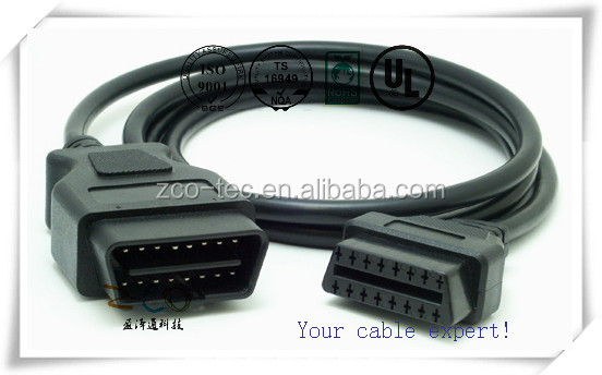 cable assembly obd2 cable connector usb